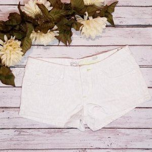 4/$20 Fox White Cheetah Print Shorts Size 1